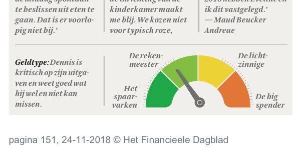 FD Persoonlijk   November 24th 2018 (in Dutch)