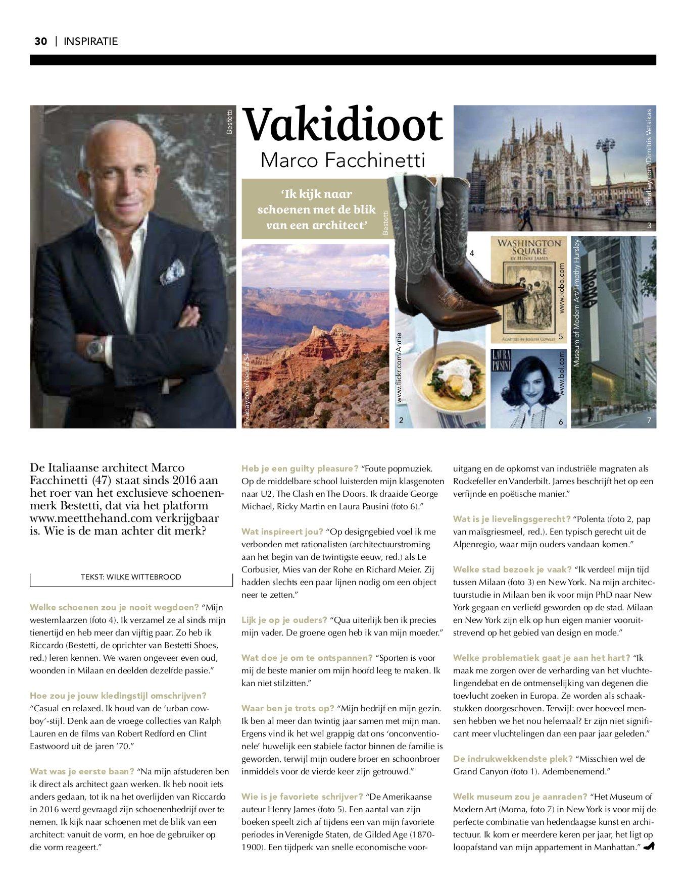 Schoenvisie interview Bestetti